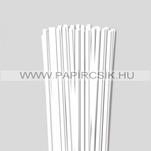 Weiß (Schneeweiß), 6mm Quilling Papierstreifen (90 Stück, 49 cm)