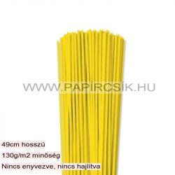 Gelb, 3mm Quilling Papierstreifen (120 Stück, 49 cm)