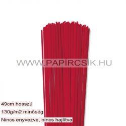 Leuchtend Rot, 3mm Quilling Papierstreifen (120 Stück, 49 cm)