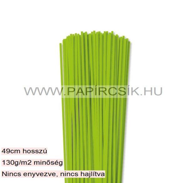 Hellgrün, 3mm Quilling Papierstreifen (120 Stück, 49 cm)