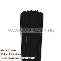 Schwarz, 3mm Quilling Papierstreifen (120 Stück, 49 cm)
