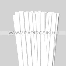 Weiß (Schneeweiß), 10mm Quilling Papierstreifen (50 Stück, 49 cm)