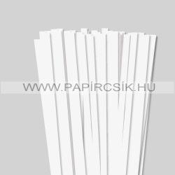 Perlweiß (Weißgrau), 10mm Quilling Papierstreifen (50 Stück, 49 cm)