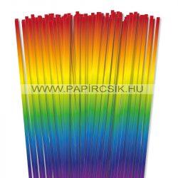 Regenbogen, 6mm Quilling Papierstreifen (90 Stück, 49 cm)