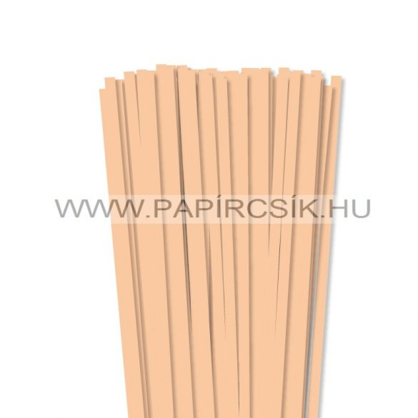 Körperfarbe / Pfirsich, 7mm Quilling Papierstreifen (80 Stück, 49 cm)