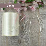 Satinband (Creme, 3mm, 1 meter)