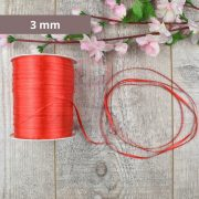 Satinband (Rot, 3mm, 1 meter)