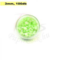 Kunststoff-Halbkugelperle, blassgrün (3mm, 100 Stück)
