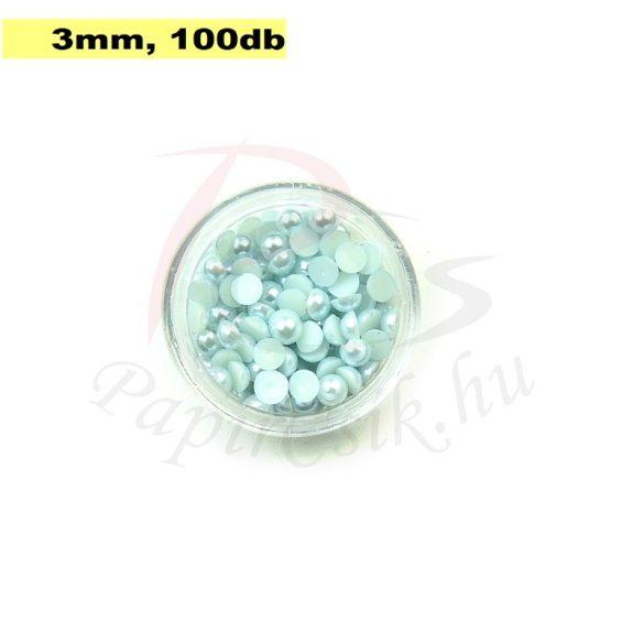 Kunststoff-Halbkugelperle, hellblau (3mm, 100 Stück)