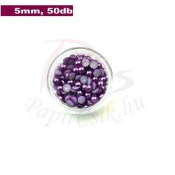Kunststoff-Halbkugelperle, lila (5mm, 50 Stück)