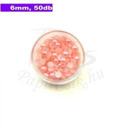 Kunststoff-Halbkugelperle, rosa (6mm, 50 Stück)