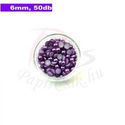 Kunststoff-Halbkugelperle, lila (6mm, 50 Stück)