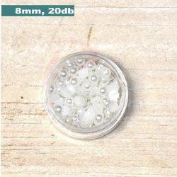 Kunststoff-Halbkugelperle, weiß (8mm, 20 Stück)