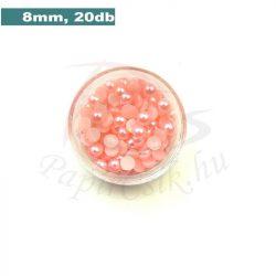 Kunststoff-Halbkugelperle, rosa (8mm, 20 Stück)
