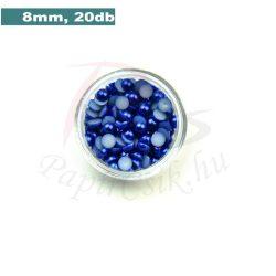 Kunststoff-Halbkugelperle, dunkelblau (8mm, 20 Stück)
