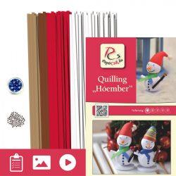 Schneemann - Quilling Muster (260 Stück Streifen und Beschreibung mit Bilder)