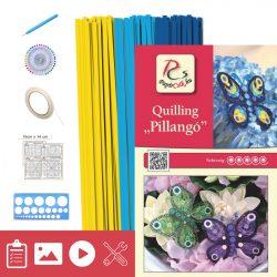 Schmetterling - Quilling Muster (210 Stück Streifen, Beschreibung, Werkzeuge)