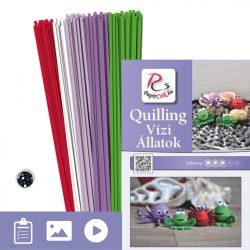 Wassertiere - Quilling Muster (190 Stück Streifen und Beschreibung mit Bilder)