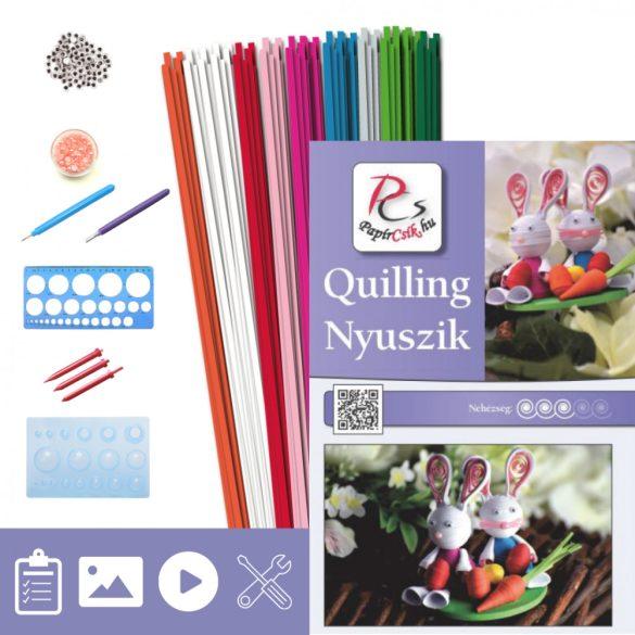 Hasen - Quilling Muster (200 Stück Streifen, Beschreibung, Werkzeuge)