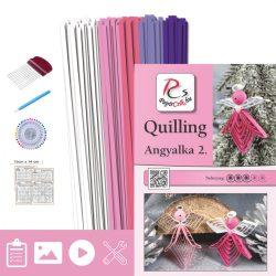 Engelchen 2. - Quilling Muster (130 Stück Streifen und Beschreibung, Werkzeuge)