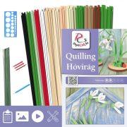 Schneeglöckchen  - Quilling Muster (230 Stück Streifen, Beschreibung, Werkzeuge)