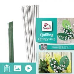 Maiglöckchen - Quilling Muster (70 Stück Streifen und Beschreibung mit Bilder)