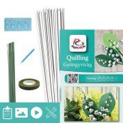 Maiglöckchen  - Quilling Muster (70 Stück Streifen, Beschreibung, Werkzeuge)