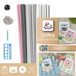 Zebra und Nilpferd - Quilling Muster (190 Stück Streifen, Beschreibung, Werkzeuge)