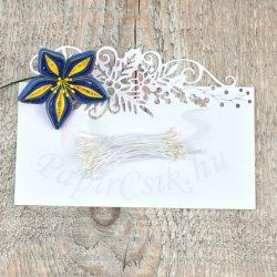 Blumen Lätzchen (weiß, 1mm, 200Stück)