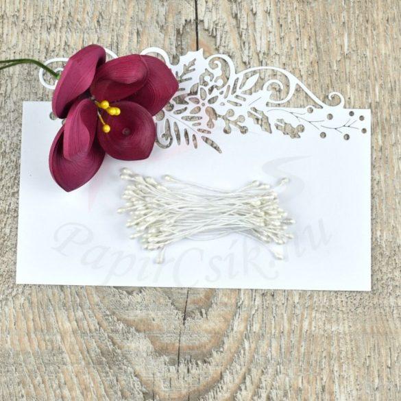 Blumen Lätzchen (weiß, 3mm, 50Stück)