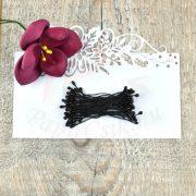 Blumen Lätzchen (schwarz, 3mm, 50Stück)