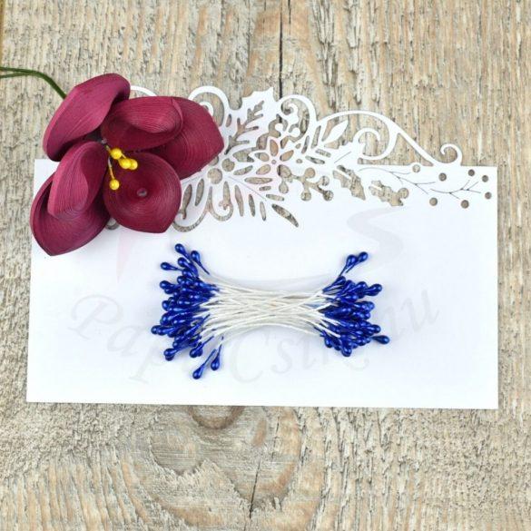 Blumen Lätzchen (Blau, 3mm, 50Stück)
