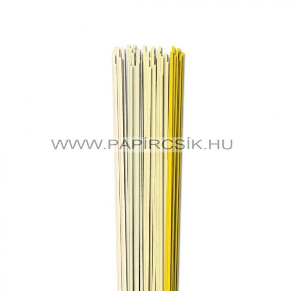 Halványsárga árnyalatok, 3mm-es quilling papírcsík (5x20, 49cm)
