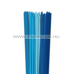 Kék árnyalatok, 5mm-es quilling papírcsík (5x20, 49cm)