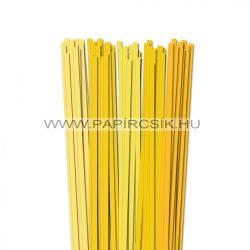 Sárga árnyalatok, 7mm-es quilling papírcsík (5x20, 49cm)