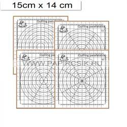 Quilling Mini Korktafel mit 4 St. Schablonen (15x14cm)